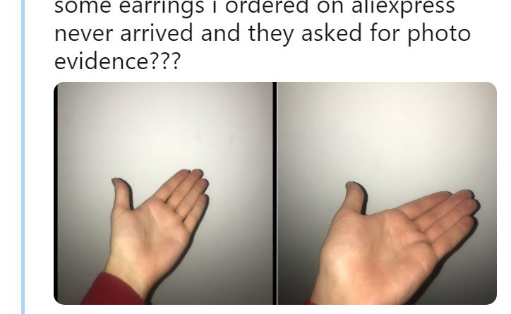 Online Shopper Sends Hilarious Proof That Earrings Never Arrived