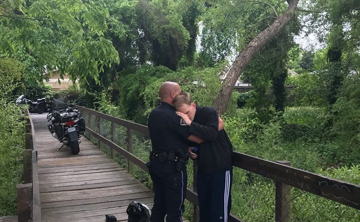 Police Officer Embraces Missing Special Needs Resident